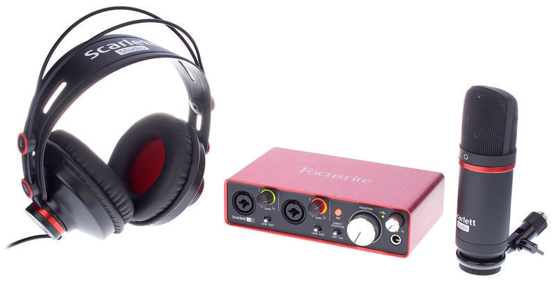 Homestudio einrichten Focusrite studio pack