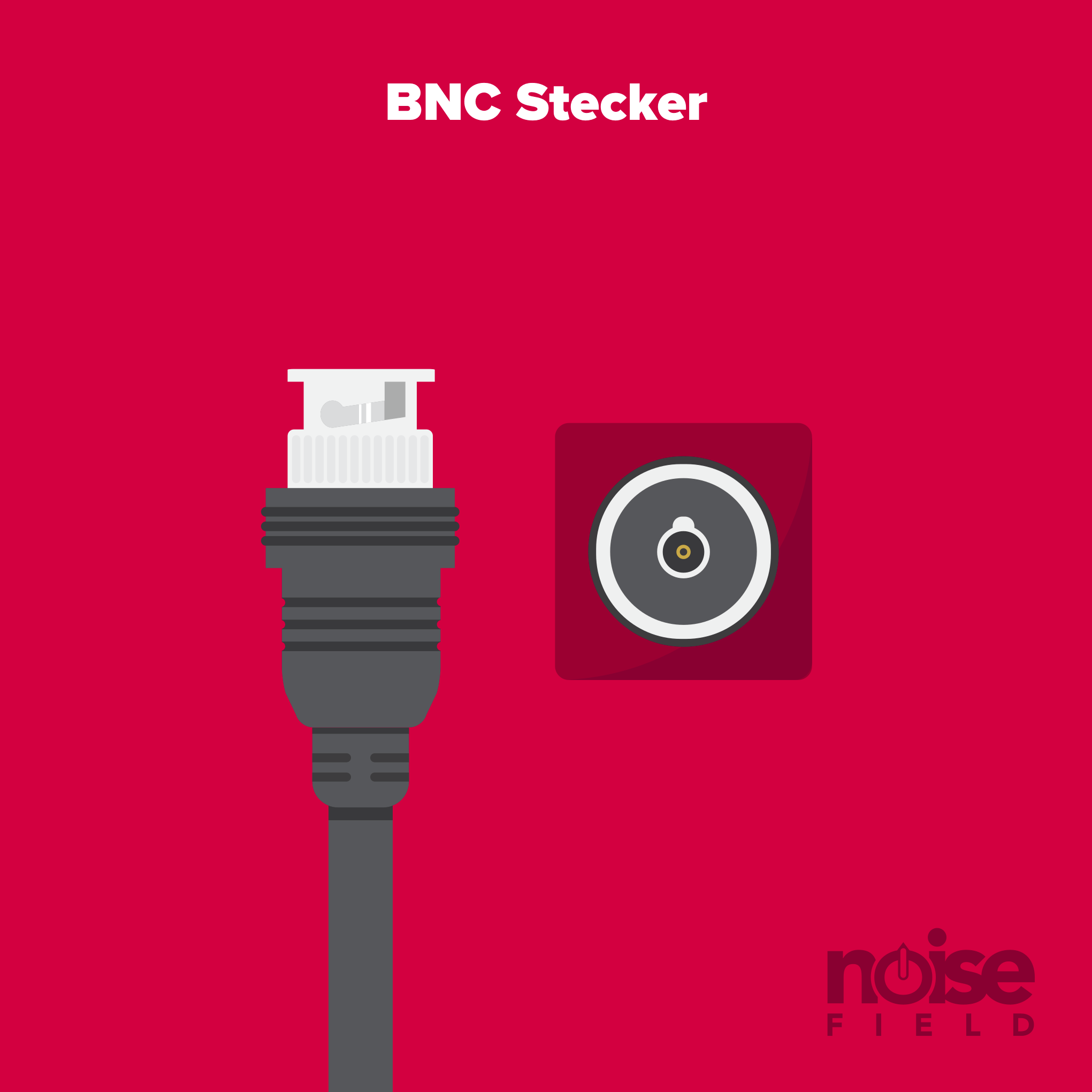 BNC Worldclock Stecker Buchse Illustration Vector Audio Interface