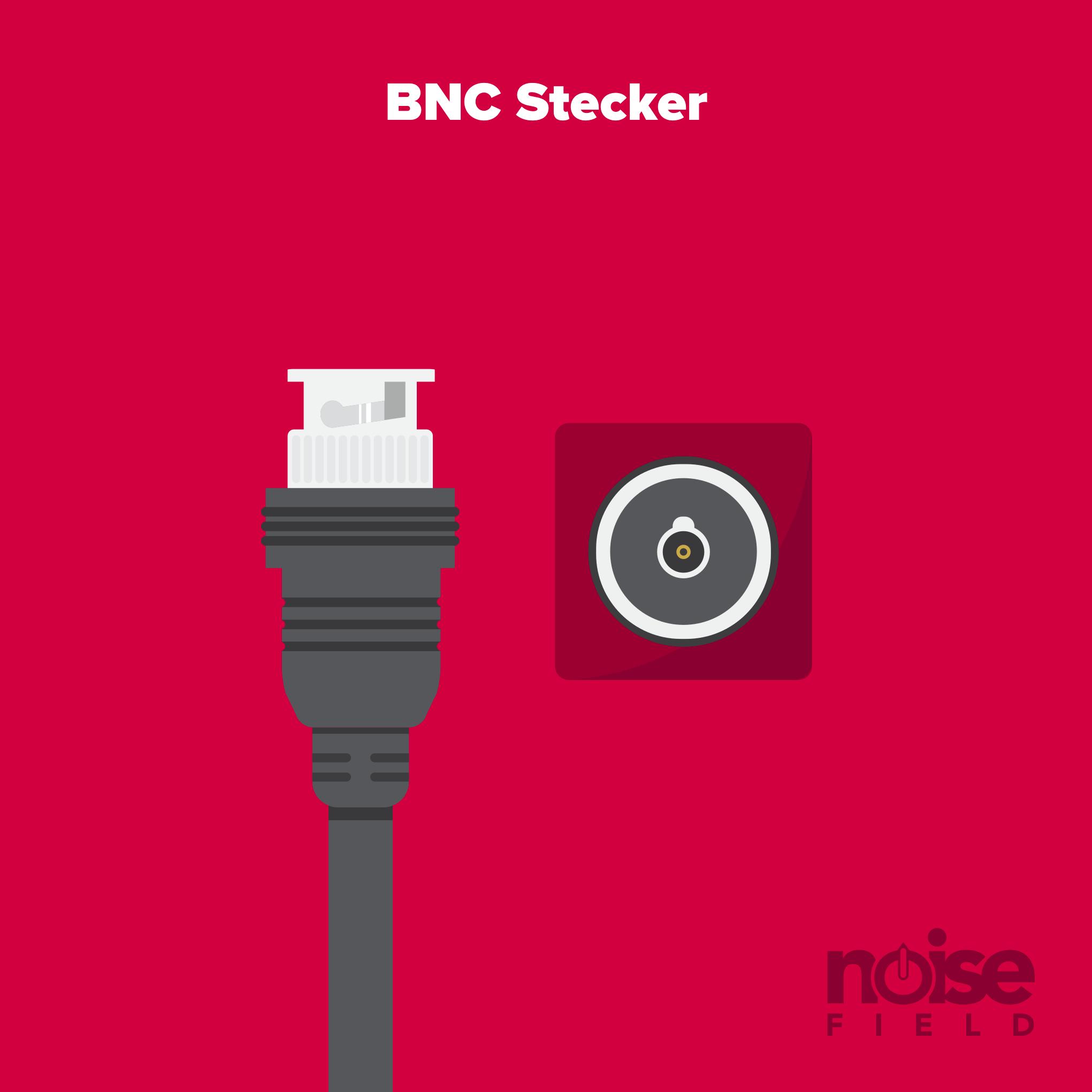 BNC Worldclock Stecker Buchse Illustration Vector Audio Interface