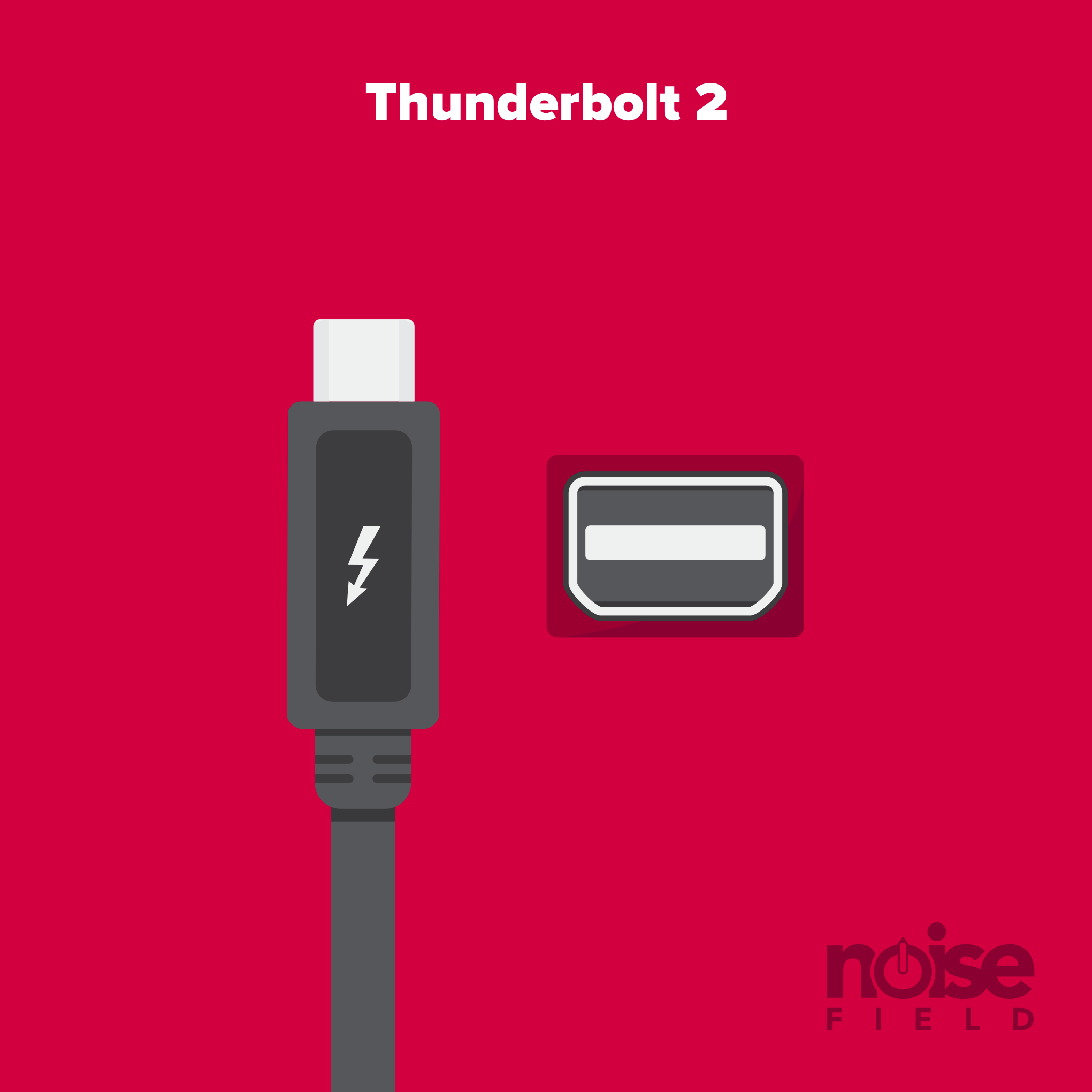 Thunderbolt 1, 2 Illustration Vector Audio Interface