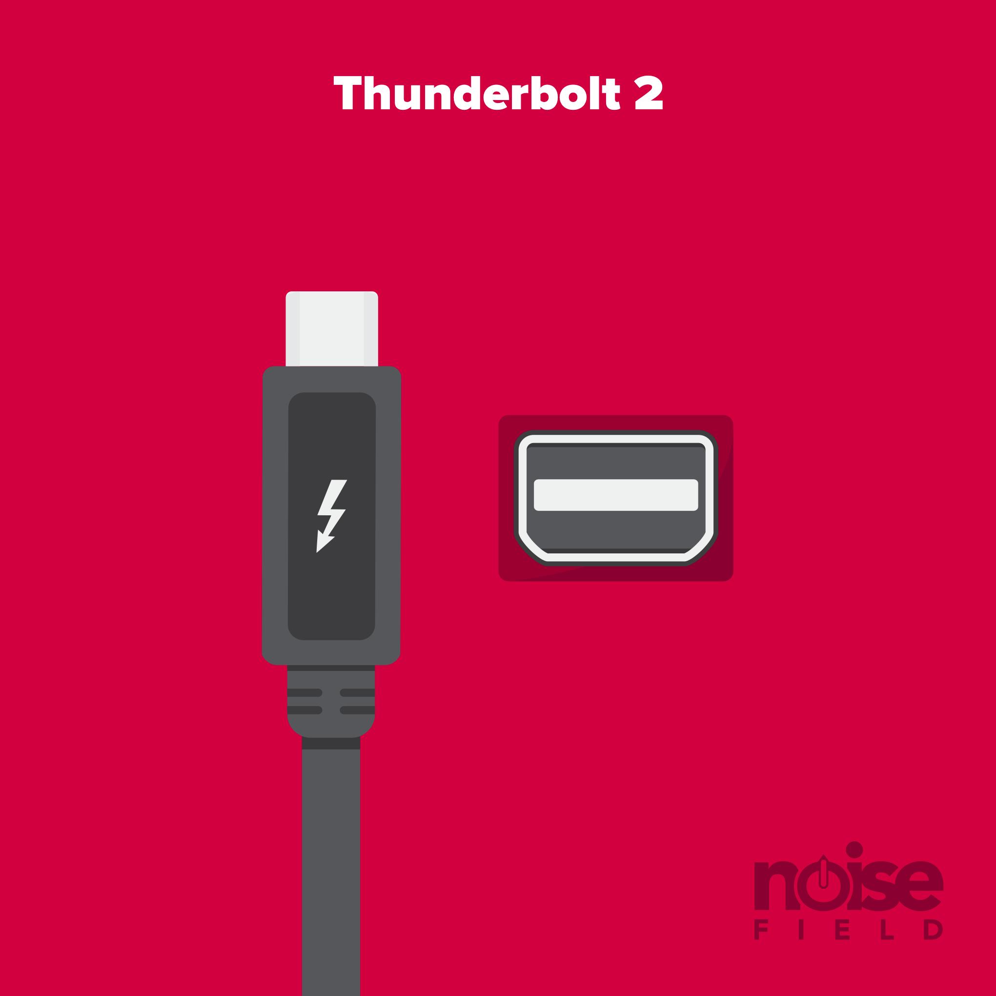 Thunderbolt 1, 2 Illustration Vector Audio Interface