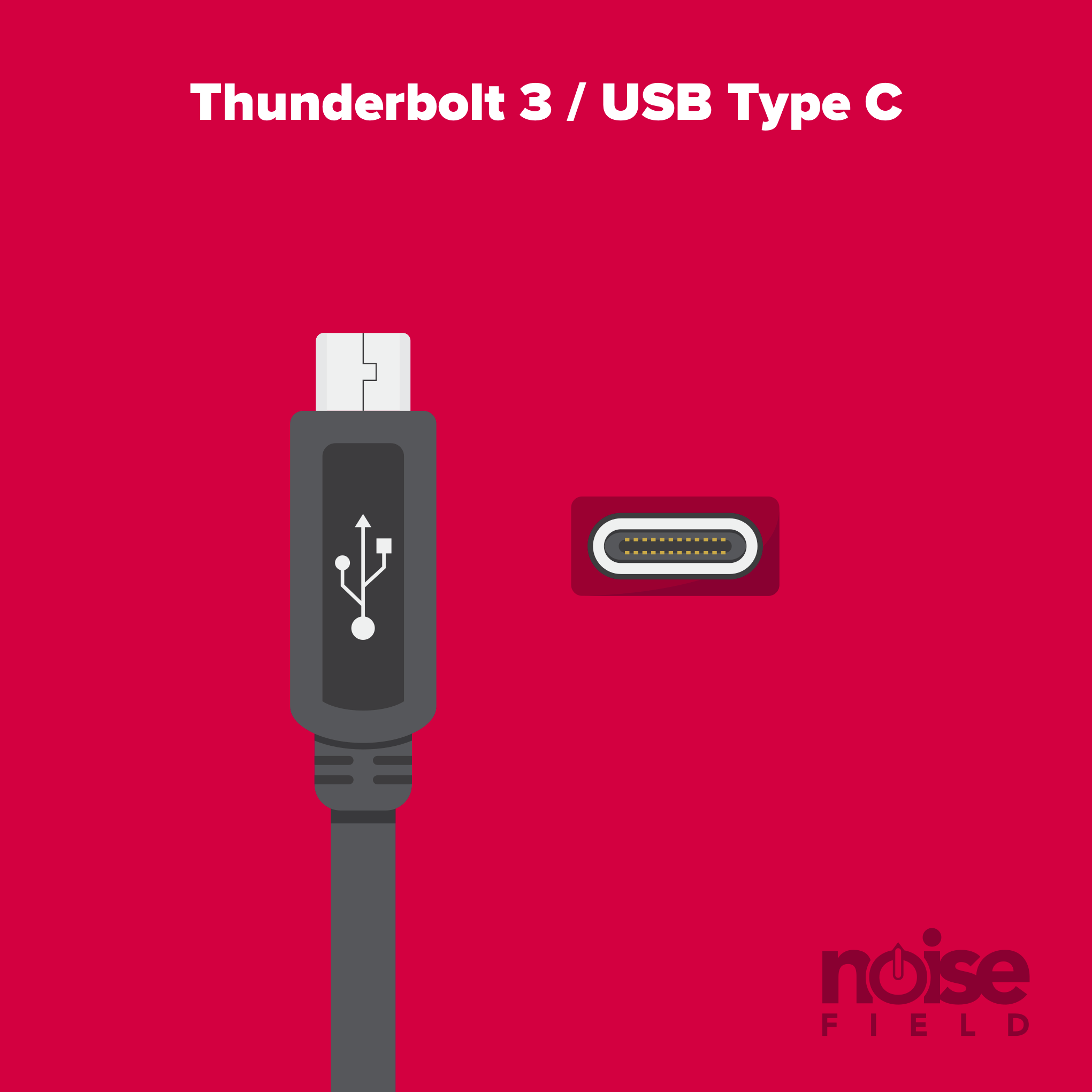 Thunderbolt 3, USB C Illustration Vector Audio Interface