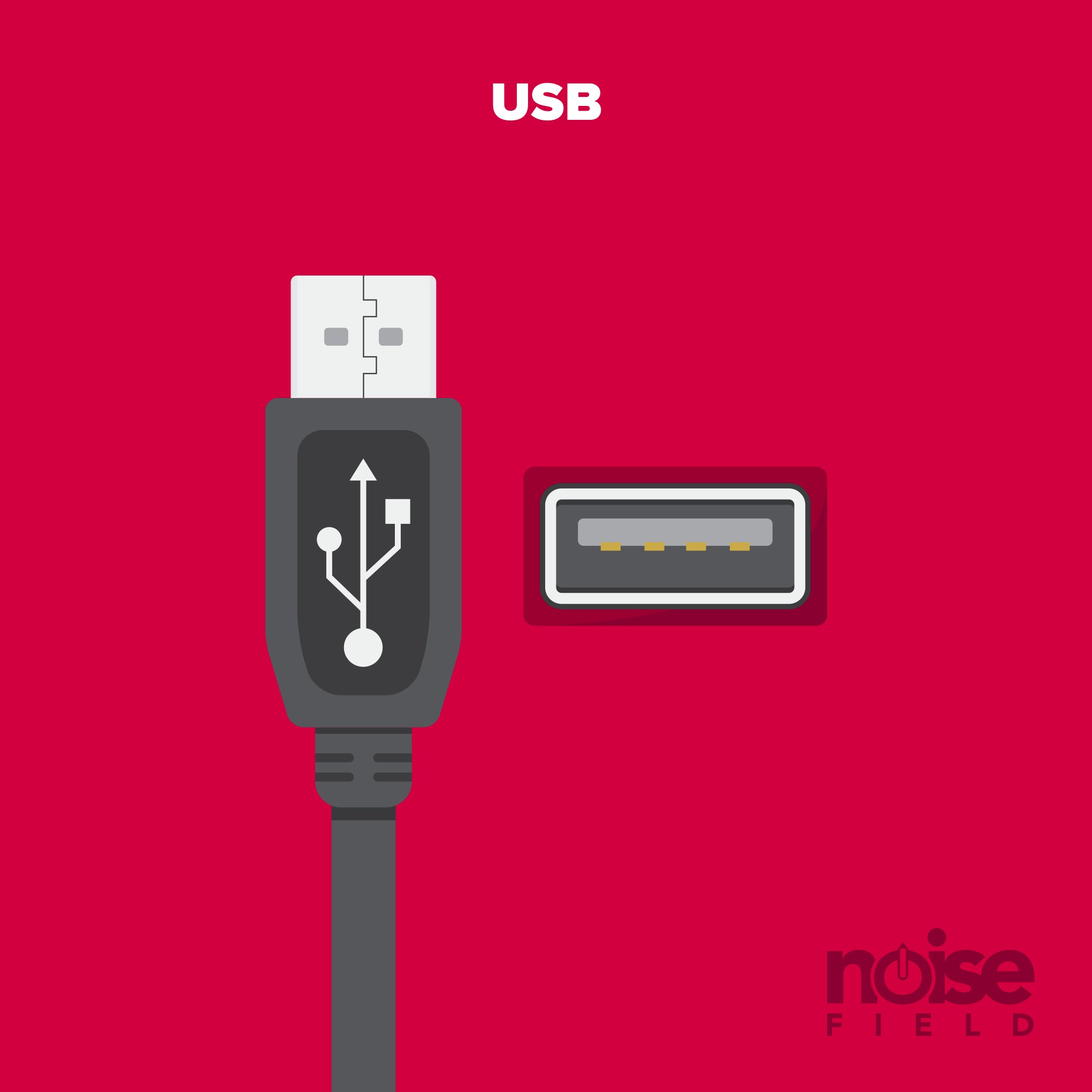 USB 2.0 Illustration Vector Audio Interface