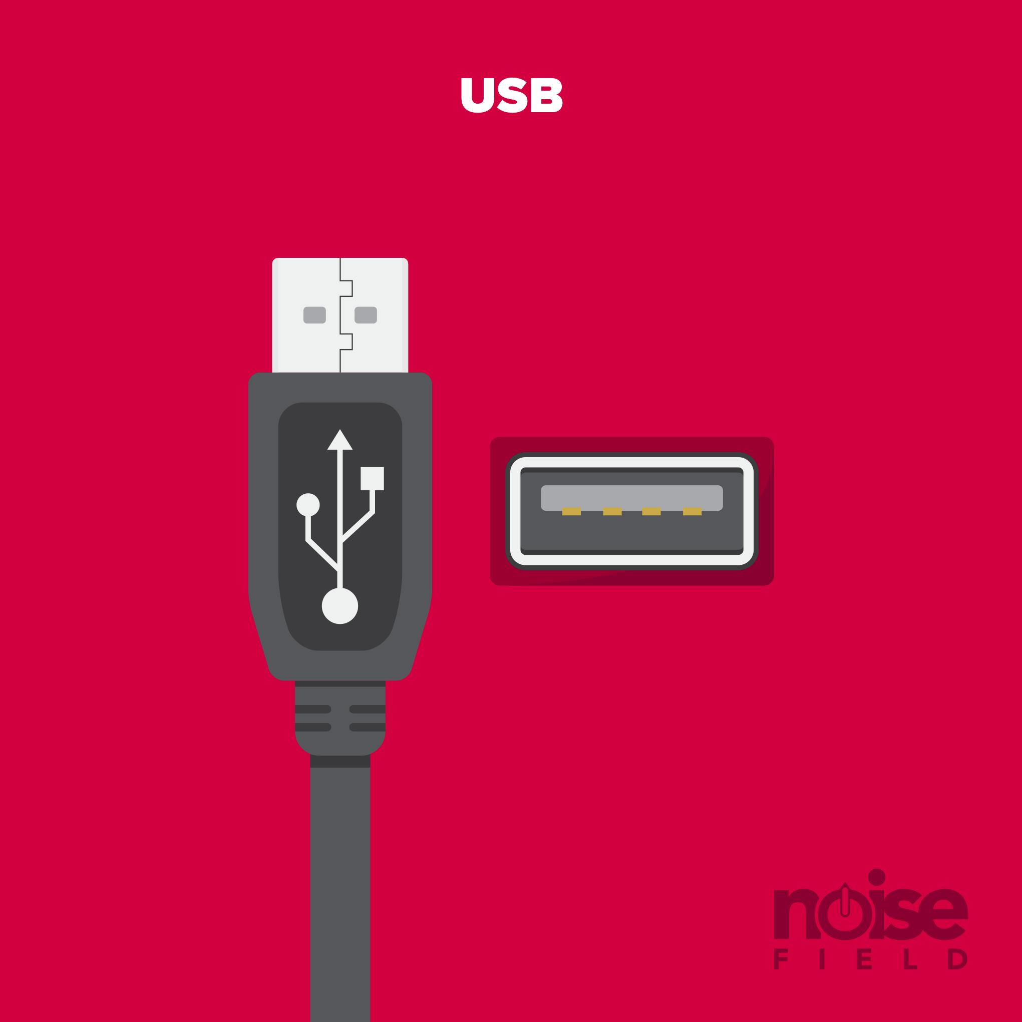 USB 2.0 Illustration Vector Audio Interface