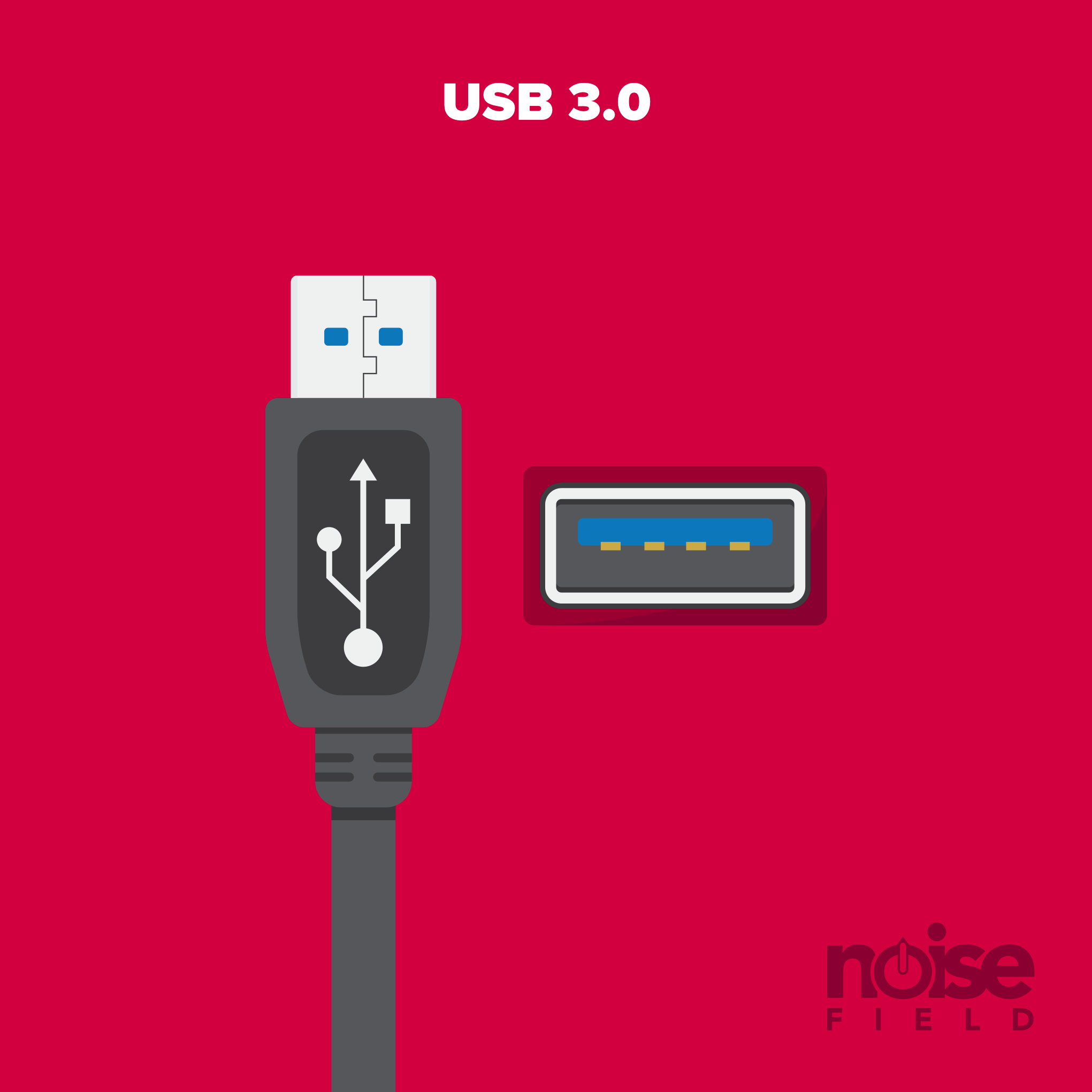 USB 3.0 Illustration Vector Audio Interface