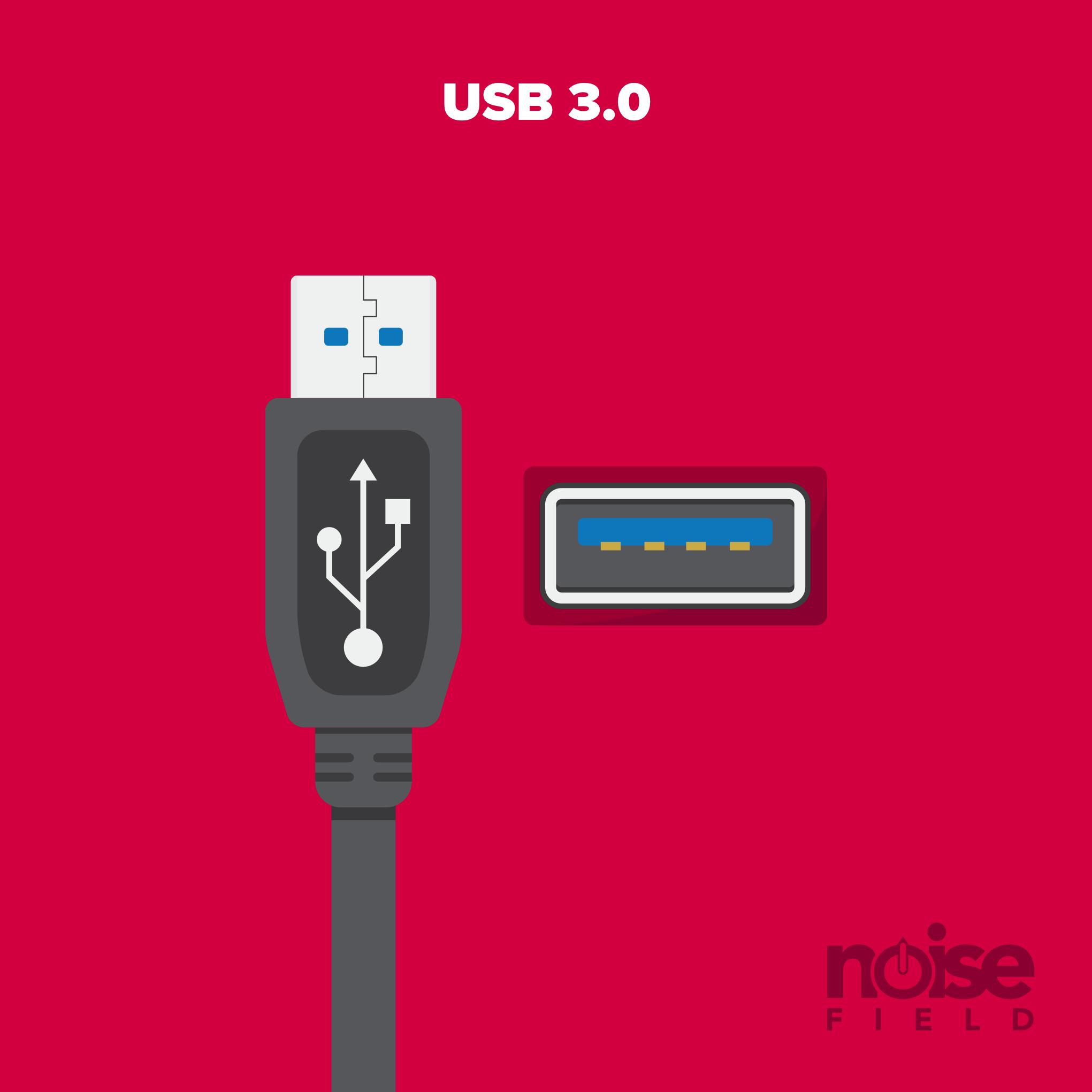 USB 3.0 Illustration Vector Audio Interface