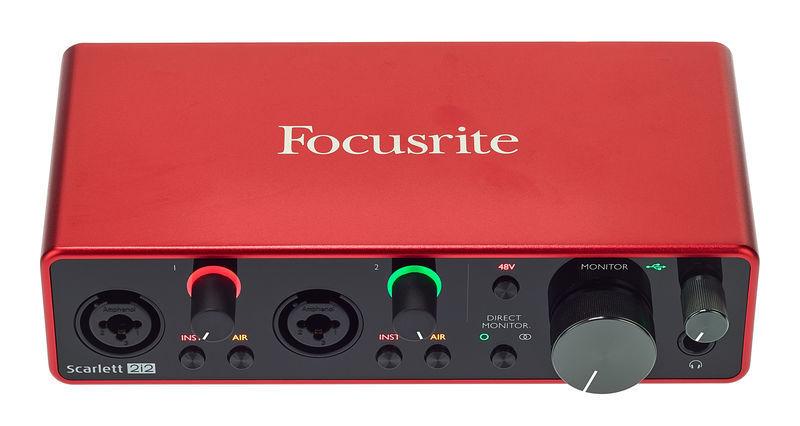 Audiointerface kaufen Test Focusrite
