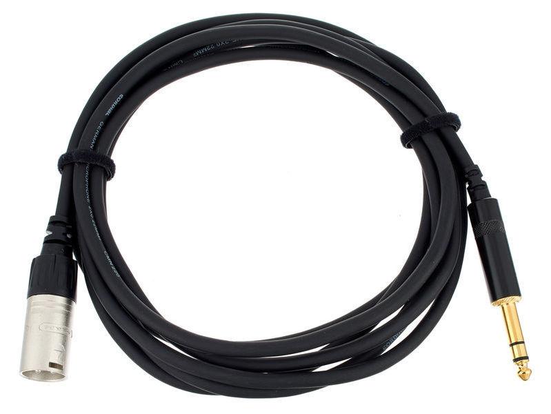 studiomonitor symmetrische Kabel klinke XLR