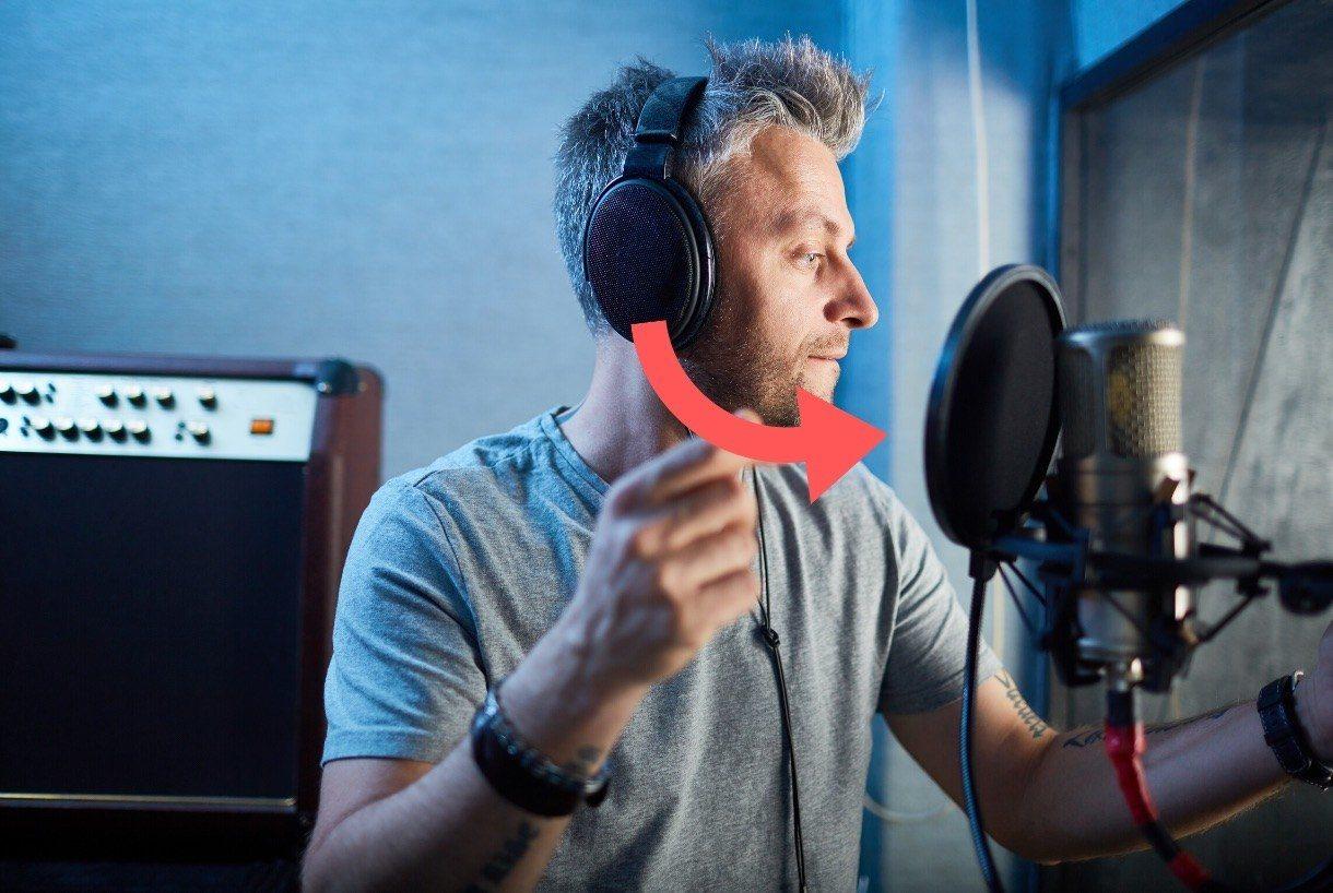 Studiokopfhörer für Vocals aufnahmen