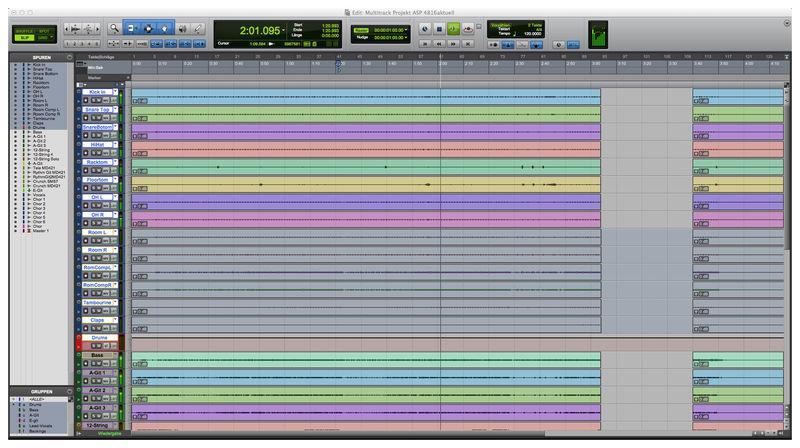 Protools DAW Audio Software